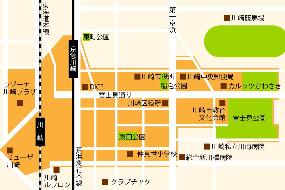 May iiアプリ利用エリア神奈川/川崎地図