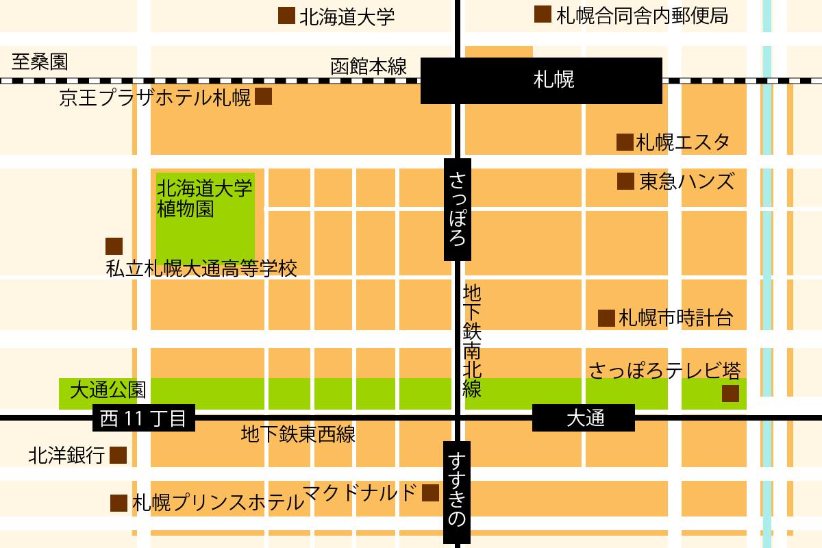May iiアプリ利用エリア北海道/札幌地図